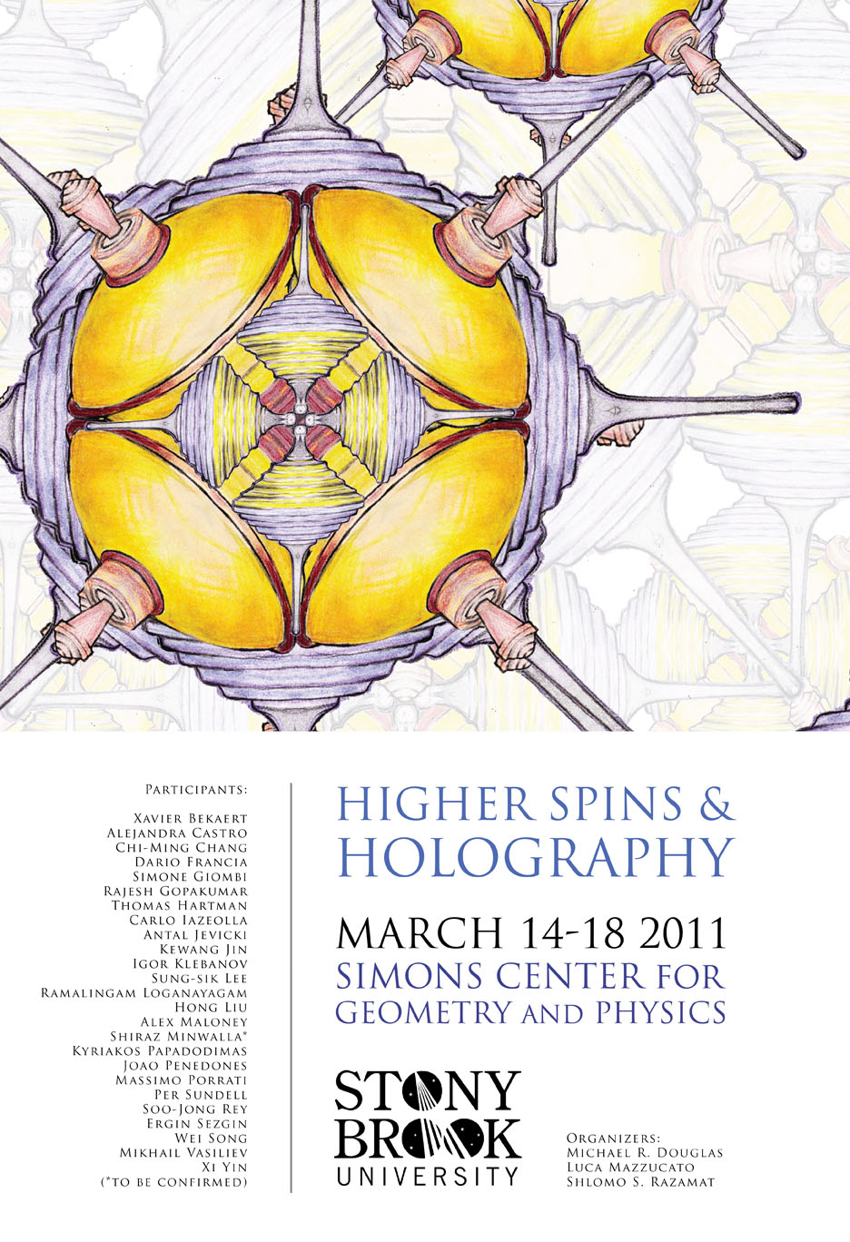 Higher Spin Theories and Holography Workshop March 14 – March 18